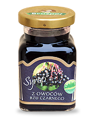 Syrup from black lilac fruits